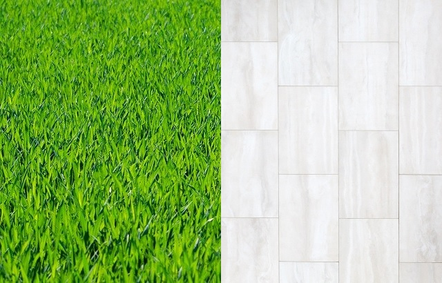Grass vs paving