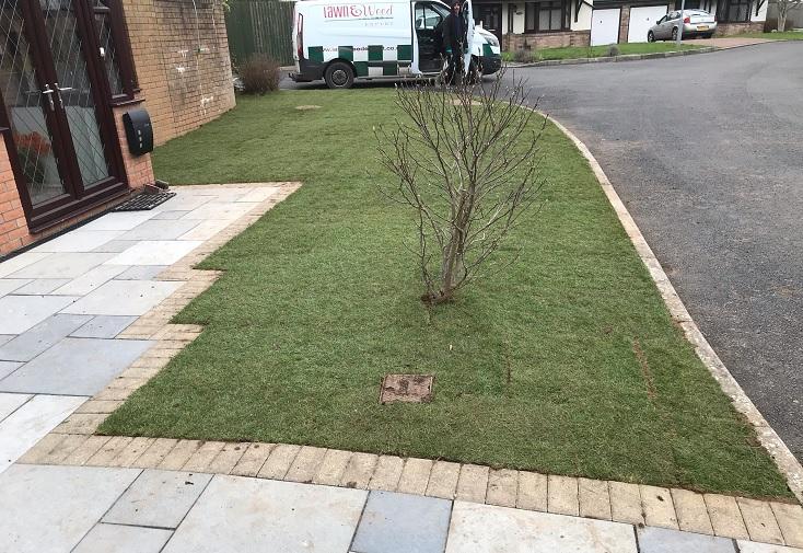 New lawn in Marshfield, Newport